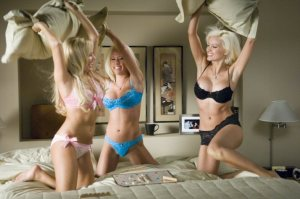 Pillow fight playboy models dreams
