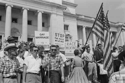 Segregation-Mixed marriage gay marriage pickets