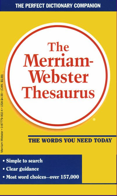 I couldn't sleep last night because I was wondering... what's another word for Thesaurus?