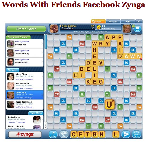 And biggest and best of all. Words With Friends is coming to Facebook!!!