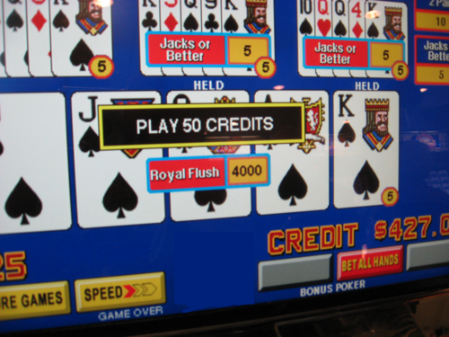 Las Vegas-royal flush