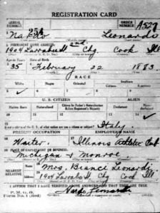 World War I Draft Registration Cards,Nardo leonardi 1917-1918
