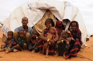 Famine family africa