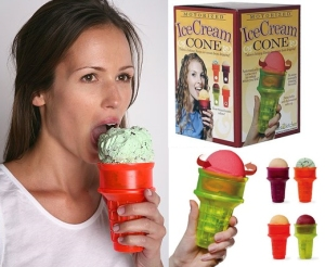 Battery powered ice cream cone. In case you're too lazy to move your tongue.