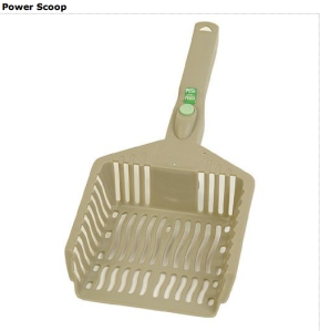 Battery powered litter scoop. Too stupid too shake a scoop?