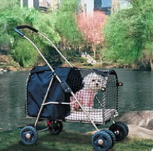 Dog Stroller: Isn't the whole purpose of walking your dog to WALK the stupid dog!
