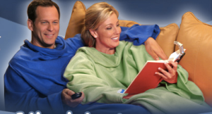 "Does it have a label that says ""as seen on TV"" ? Example: Snuggy. (It's a FRAKKIN' blanket!)"