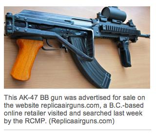 Replica AK-47 BB guns allowed into Canada