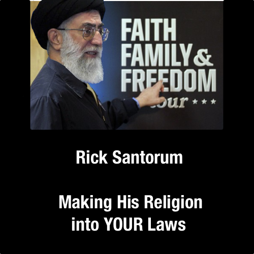 Santorumanity is Rick Santorum's own view of Christianity